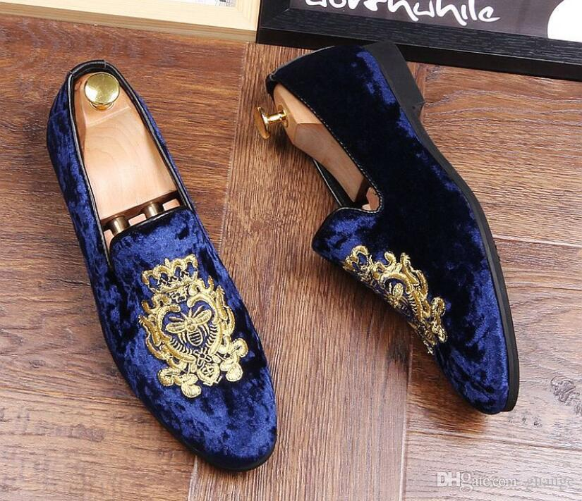Zapatos con brillos para hombre Nuevo, Moda para hombre, impresión Pisos ocasionales, Zapatos de vestir de diseñador para hombre Mocasines con lentejuelas, Plataforma para hombre, Zapatos para conducir 38-43