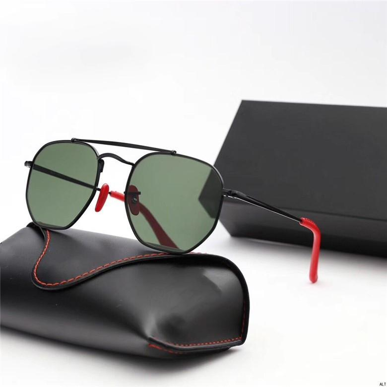 hexagonal sunglasses glass lenses women men mirror gradient color sun glasses oculos de sol Gafas UV400 with brand and case box