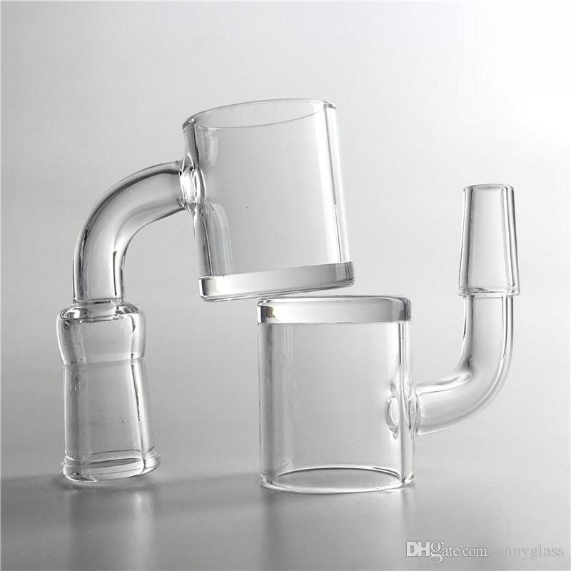 New 24mm quartz banger nail 4mm thick bottom short neck banger with 10mm 14mm 18mm 2mm honey bucket for glass bongs