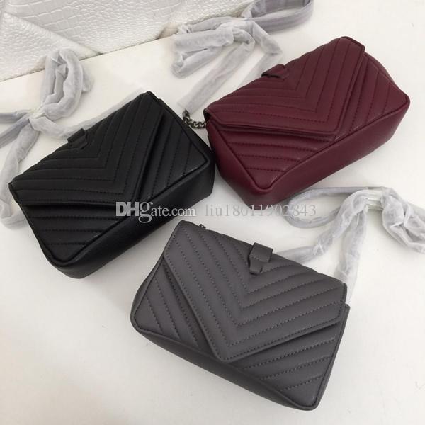 New leather handbag, famous designer handbag, goat leather bag, hand-embroidered V line, 20cm 1886 high quality Slanted straddle carrier bag