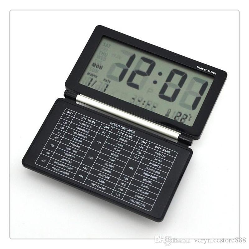 إنذار الساخنة صفقة الإلكترونية على مدار الساعة عالية الجودة متعددة الوظائف الصامت LCD شاشة رقمية كبيرة مكتب السفر المنبه