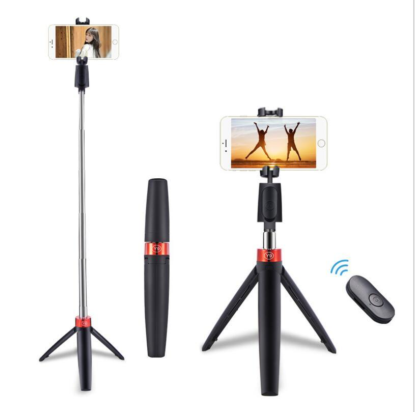 Cámara de trípode del soporte para teléfonos móviles con Bluetooth inalámbrico Máquina de autocompción del artefacto para teléfonos G0Pro para iPhone Xiaomi Samsung