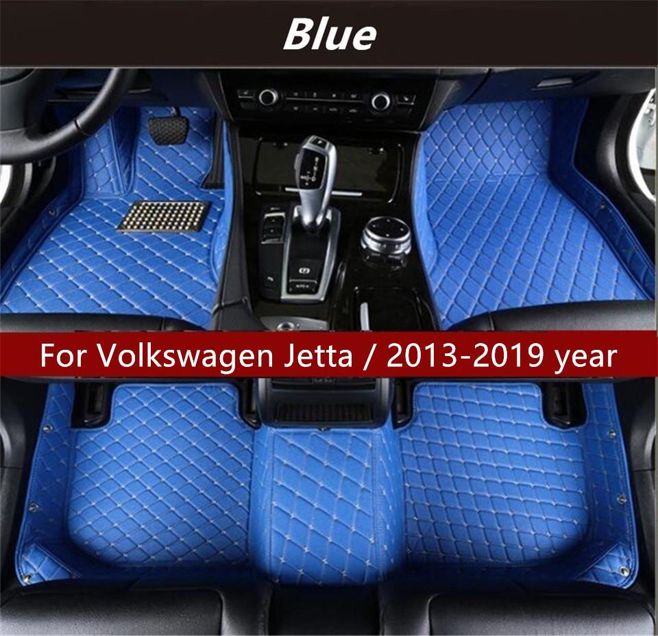 Volkswagen Jetta için / 2013-2019 yıl Araba İç Ayak Mat Kaymaz Çevre Koruma Tatsız Toksik olmayan Kat Mat