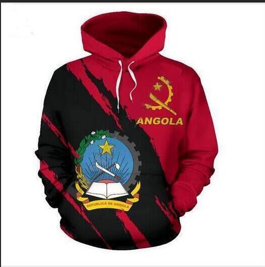 Mens Designer Hoodies für Frauen Männer Paare Sweatshirt Lovers 3D angola flag Hoodies Coats Hoodies Tees Kleidung RR052
