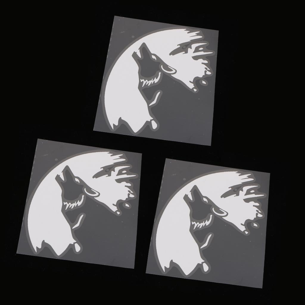 3x Auto-Autofenster Warnung Vinyl Aufkleber Removable Reflektierende Aufkleber Weiß