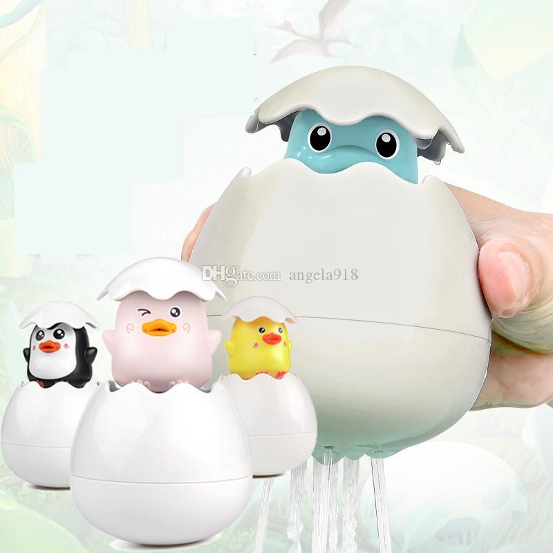10cm Fantastic Water Born Egg Dinosaur Duck Penguin Water Floating Squirt Toy for Baby Kids Bath Shower Fun Educational Toy LA226