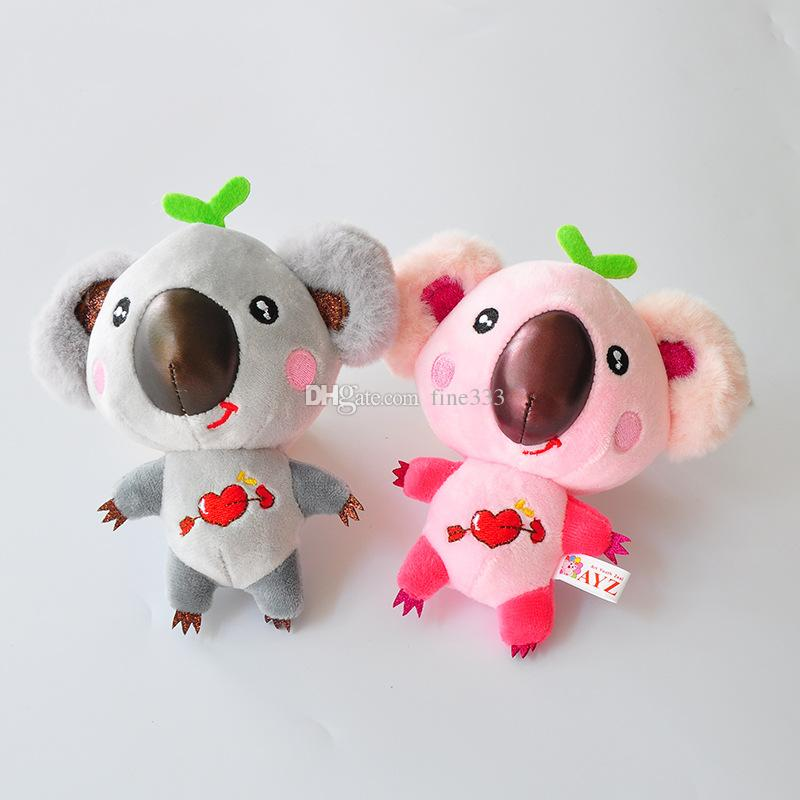New Brand AYZ Couple Cute Small Koala Plush Doll Fragrance Stripe Dinosaur Plush Toy Key Ring Pendant Boutique Doll Machine