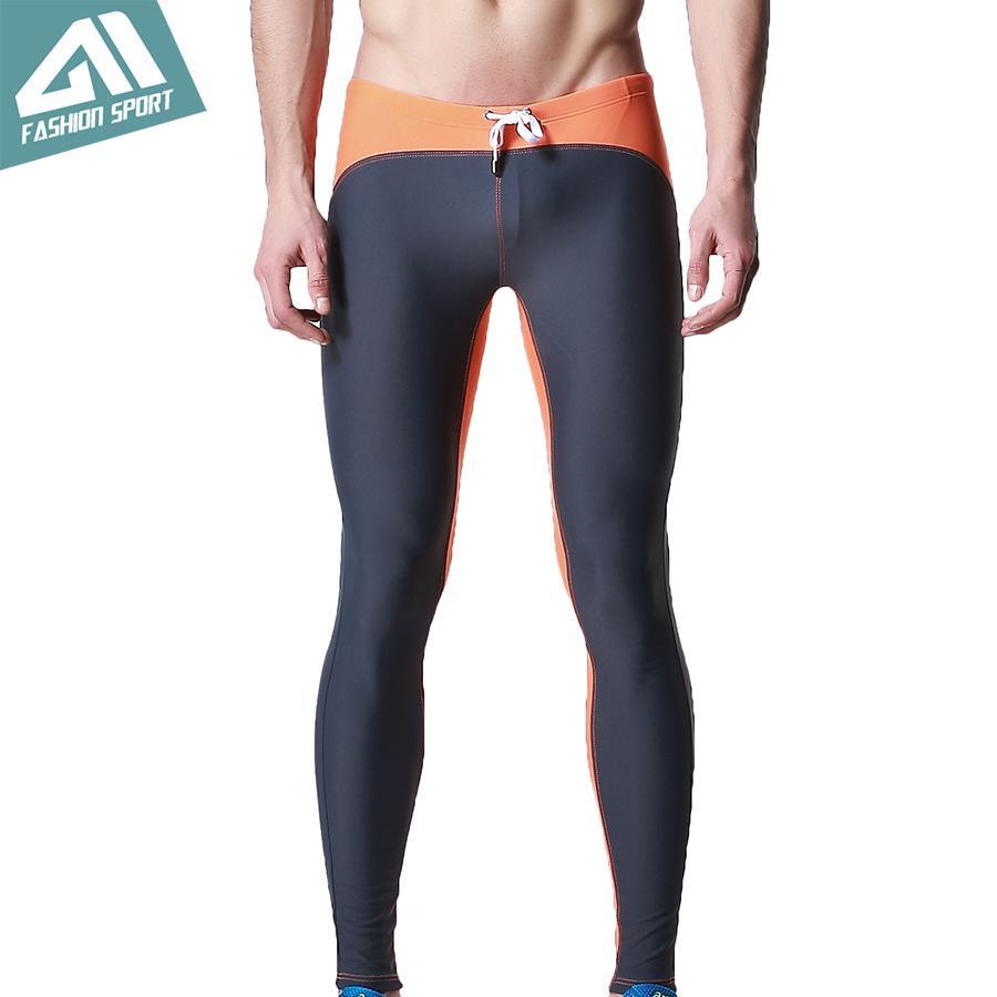 DESMIIT long Maillots de bain pour hommes Triathlon Pantalons Collants Fitness Natation Vélo Courir Gym Exercise Yogo Pantalon d'entraînement pour les hommes DT25 T200601