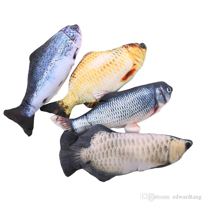 كهربائي العليا مقلد السمك لعبة القطيفة، وأساليب مختلفة، تذبذب جعل صوت، القطة الأليفة لعب لعبة، حلية، لعيد الميلاد هدية عيد ميلاد طفل، 4-2