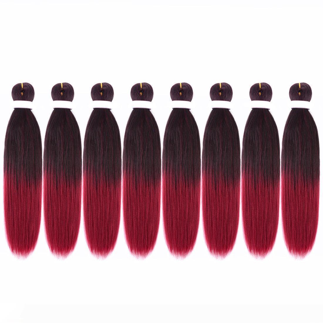 Tresser cheveux Pre Etendu EZ Braid basse température fibres synthétiques Extension de cheveux Crochet Tresses professionnelle Itch sans torsion Braid