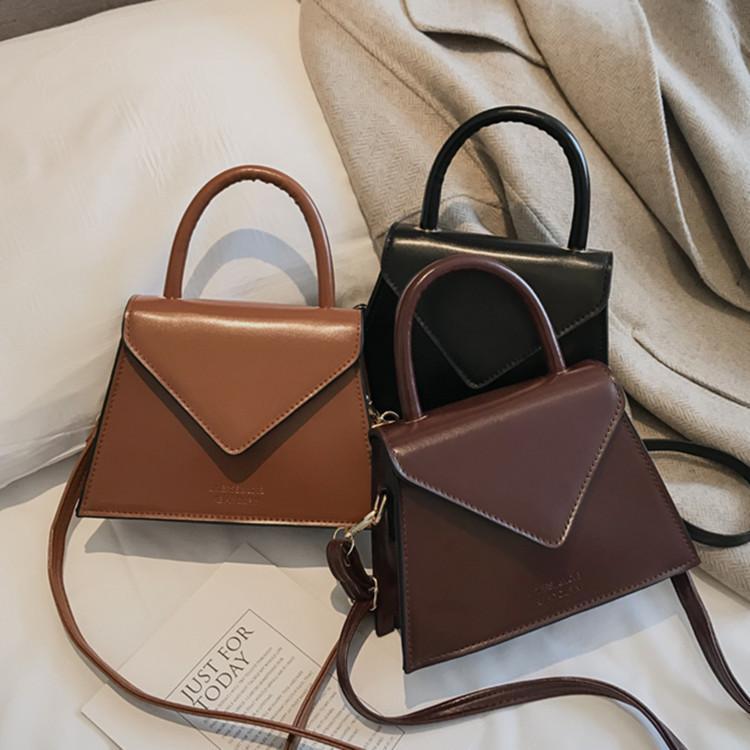 PU de los bolsos de cuero Crossbody para las mujeres 2020 Pequeño totalizadores Sac Señora mensajero del hombro empaqueta los bolsos retro Bolsas de mujer