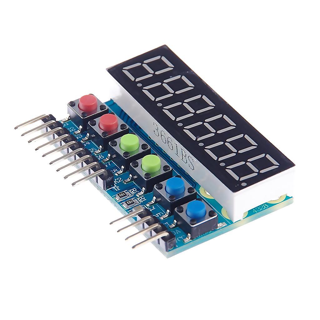 6-stellige 8 Segment Rohr LED-Anzeigemodul TM1637 für Arduino Raspberry PI