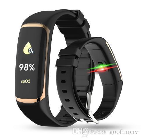 P9 Blutsauerstoff-Armband mit Blutdruck-Fitness-Tracker Smart-Armbandfunktion für IOS und Android