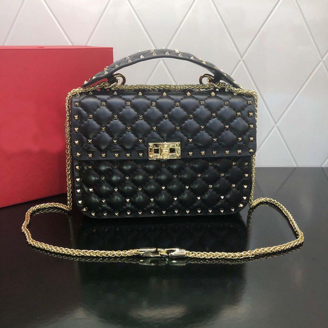الكلاسيكية مصمم حقائب اليد ذات جودة عالية النساء الكتف برشام حقيبة يد محفظة لطيف سلسلة حقيبة يد محفظة حقيبة حقيبة مخلب فاني