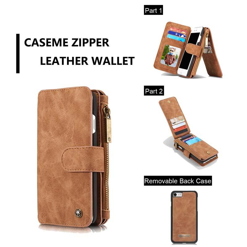 Para iPhone SE 2020 tirón de la carpeta de cuero del caso de la vendimia Caseme libro de estilo de bolso del teléfono móvil para el iPhone se 2 Coque Brown