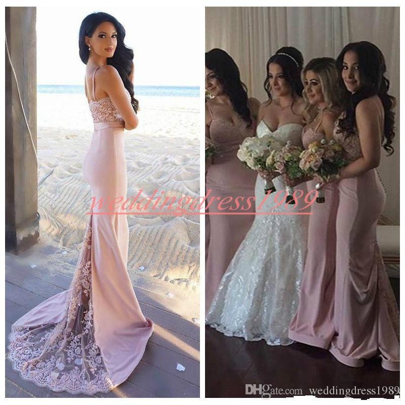 Seksi Dantel Mermaid Uzun Gelinlik Modelleri Sapanlar Şifon Ucuz Hizmetçi Onur Elbise Düğün Konuk Akşam Parti Abiye Örgün Balo Elbise