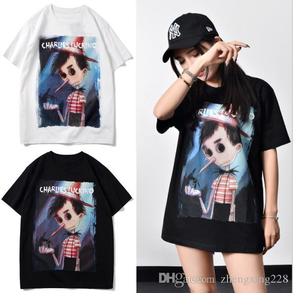 2020 Summer T-shirt de luxe Hommes Femmes Scarecrow Cartoon Impression t-shirt Designer Hip Hop femmes manches courtes T-shirt des Taille de S-XXL