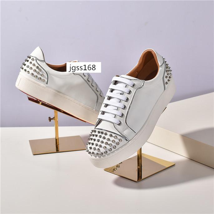 Nuovo picco Krystal Calzino Donna piatto 30 mm Altezza Bianco Neve Black Mat Versione Argento Loubi Sneakers2