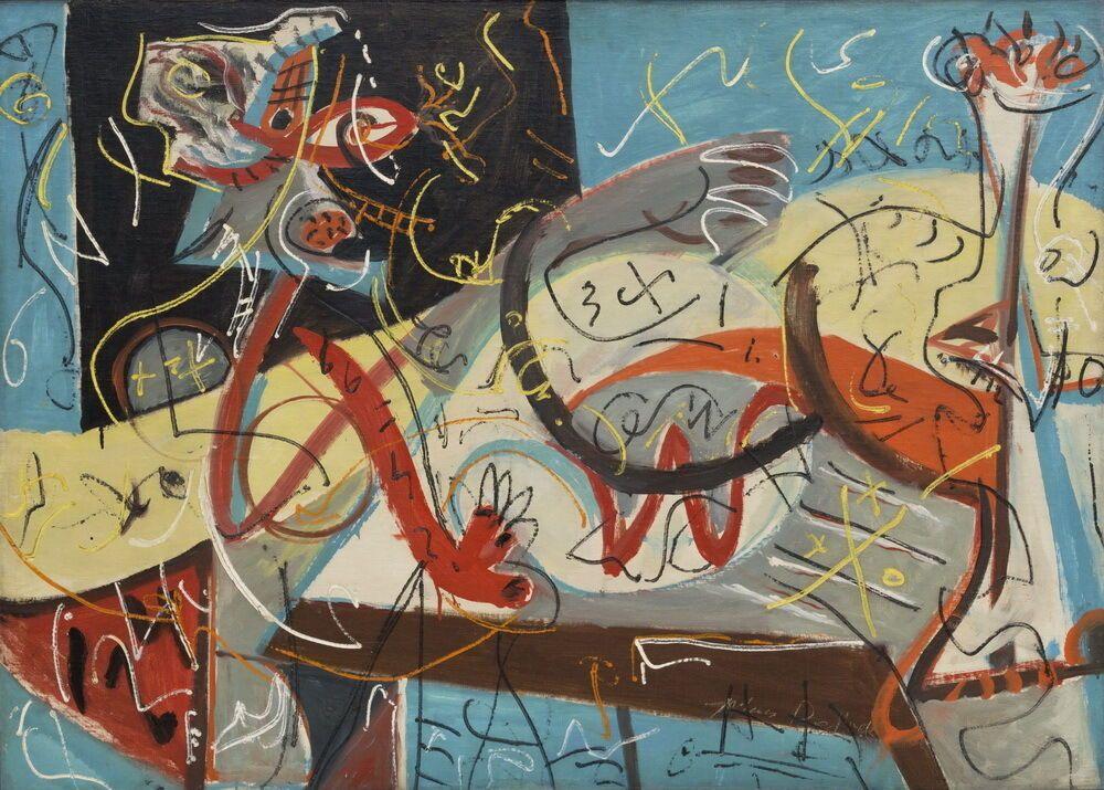 Jackson Pollock Stenographischen Abbildung Hauptdekor handgemaltes HD-Druck-Ölgemälde auf Leinwand-Wand-Kunst-Leinwandbilder 200206