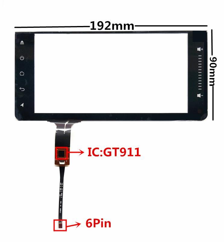 6.95 дюймов ОТС-218-695 GT911 емкостный сенсорный дигитайзер для Toyota автомобильный DVD GPS навигация мультимедийная сенсорная панель экрана Стекло