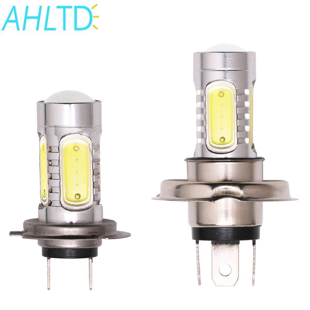 2ST Auto-Motorrad-Scheinwerfer-Nebel-Licht-Lampe H4 H7 COB LED-Leistungs-7.5W 6000K Birne Parkplatz Lampe DC 12V Kits Zubehör
