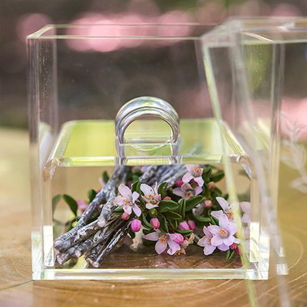 Aila Crystal Clear Ring Holder Acrylic Propose Box Wedding Ring Boxes Romantic