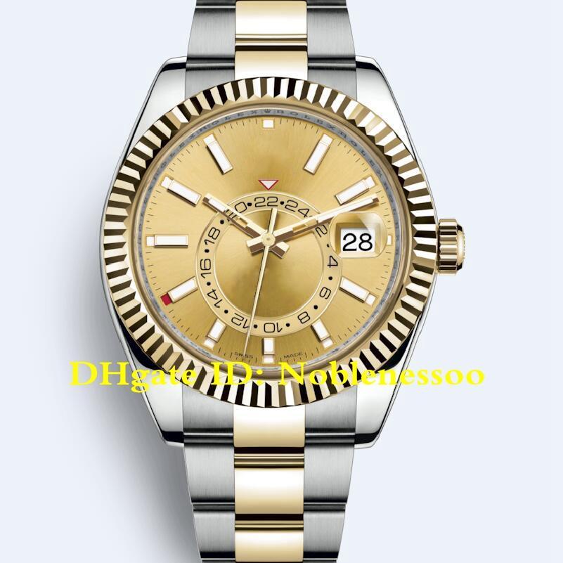 19 Färg Mäns Klocka Auto Steel Yellow Gold Rose Men Oyster Armband GMT 326933 326934 326938 Asien 2813 Automatiska klockor
