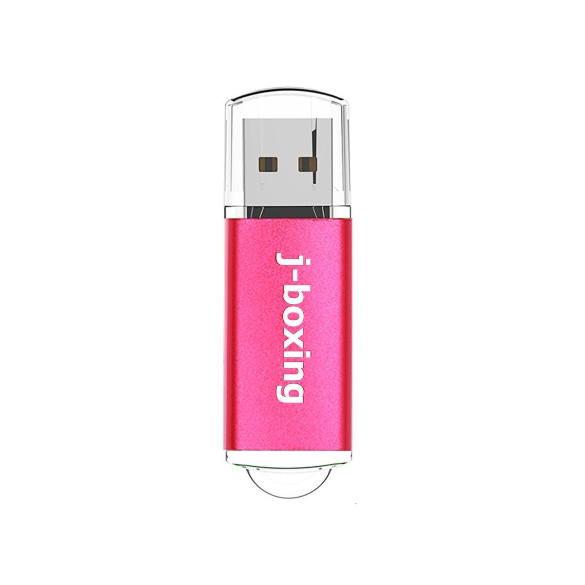 J-boxing Pink Rectangle 32GB USB Flash Drive Enough Memory Sticks usb 2.0 Flash Pen Drive for Computer Laptop Macbook Tablet Thumb Storage