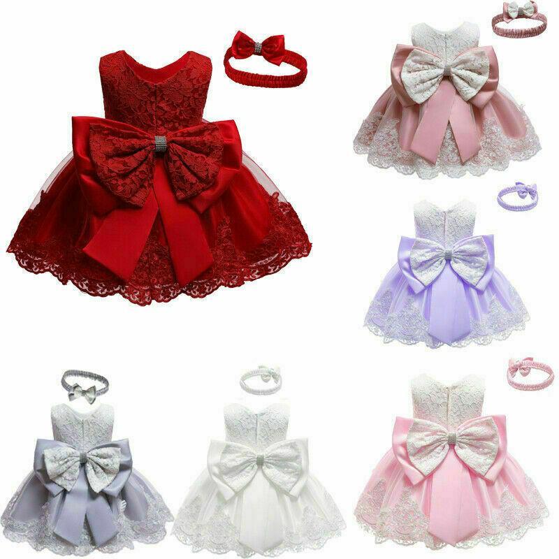 الاطفال الرضع حزب فتاة BOWKNOT توتو اللباس المسابقة زفاف الأميرة التعميد ديكور