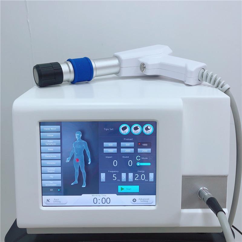 Portable Miglior pressione dell'aria Shockwave balistica per apparecchio per la terapia del dolore e dello sport ferita con 6BAR pressione alta