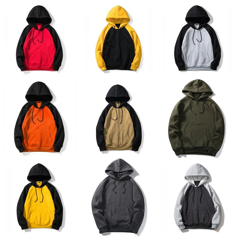 후드 가죽 자켓 남성 옐로우 블루 블랙 가죽 모토 자켓 남성 오토바이 양털 남성 가을 겨울 패션 # 660