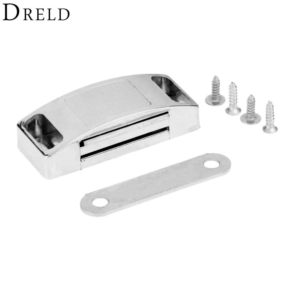 2019 Urniture Hardware Cabinet Dreld 5322mm Magnetic Door Catches Cupboard Wardrobe Magnetic Cabinet Latch Catches Stop Stoppers Self Al From