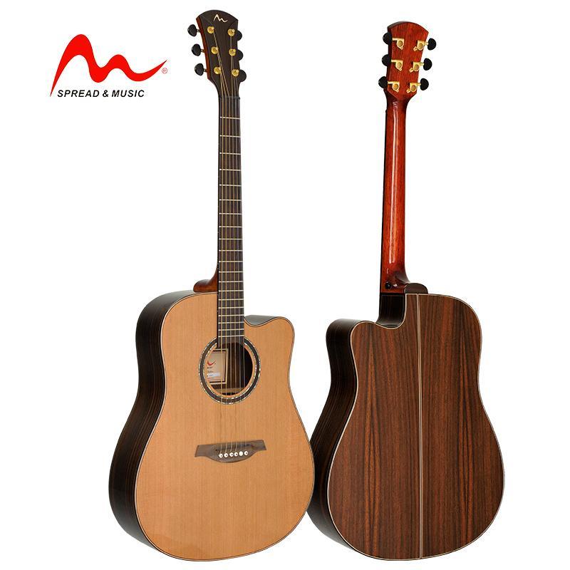 prezzo all'ingrosso OEM di grado superiore 41 pollici chitarra acustica solida grande suono SW-18BD