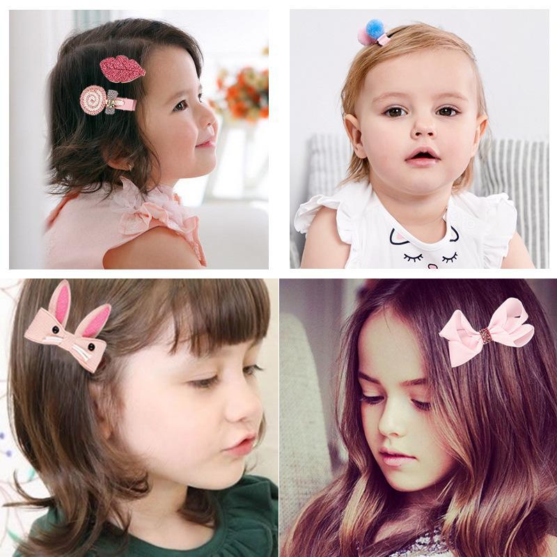 18 Pcs //Box Ribbon Bow Rabbit Child Hair Clip Cute Cartoon Hair Clip Accessories