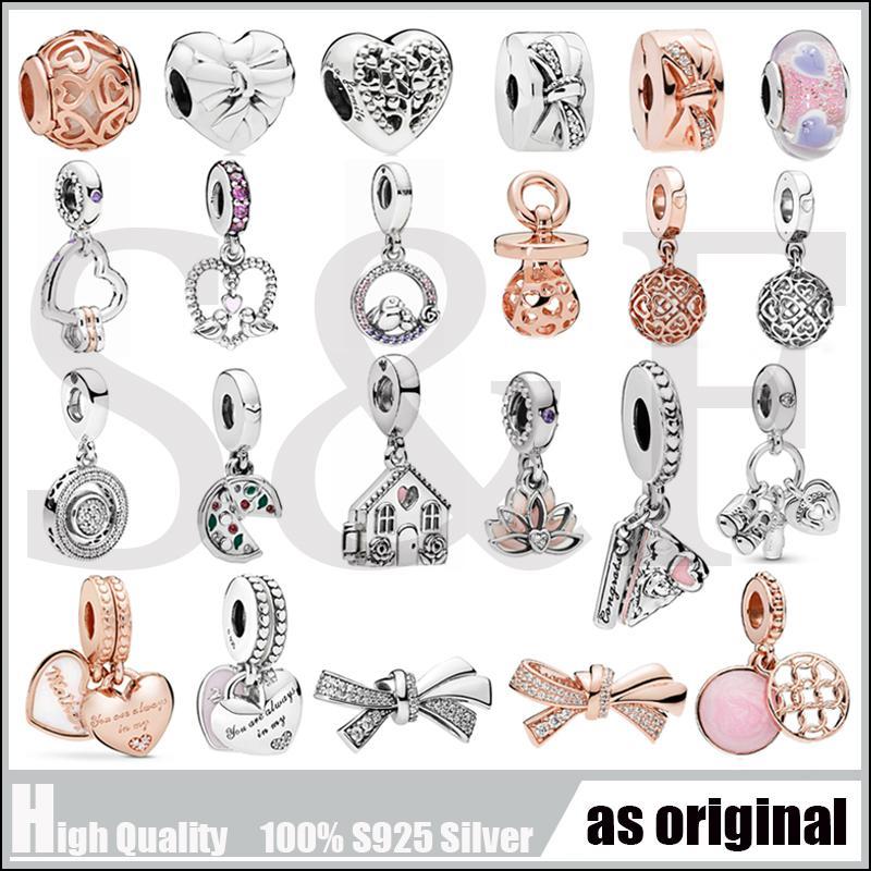 ANNELER GÜNÜ KOLEKSİYONU Hediye 925 ayar gümüş Charm Orijinal DIY Moda Takı Fit Kadın Style Charm Bilezikler
