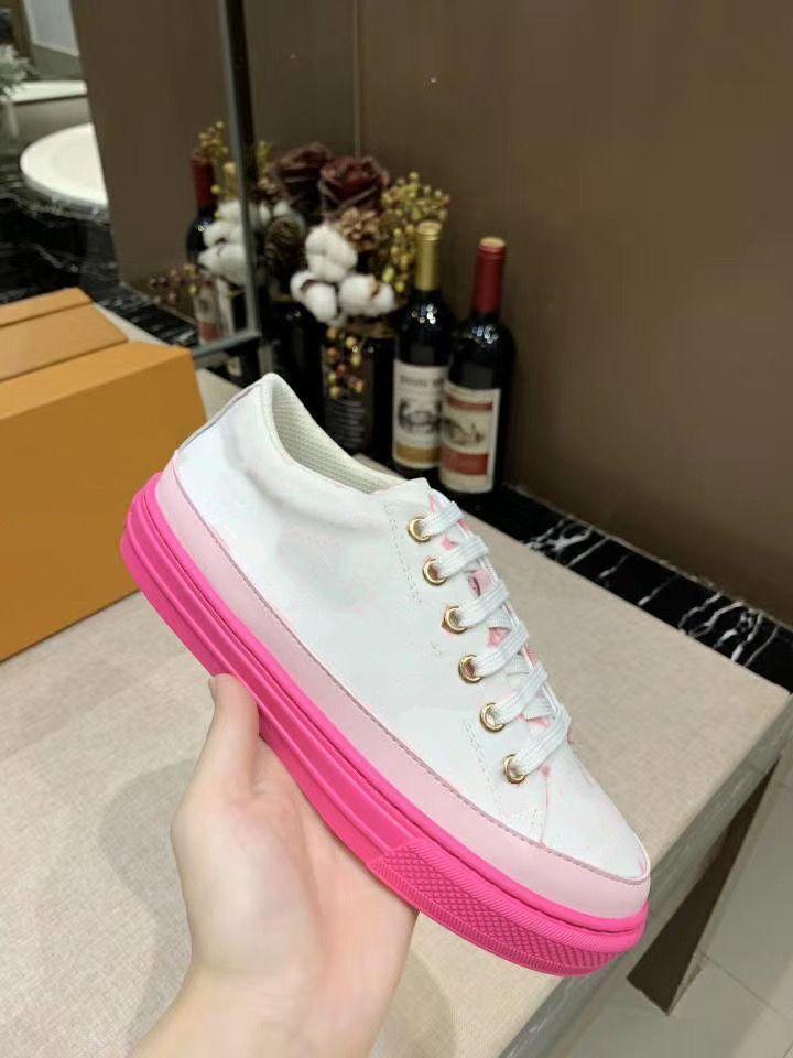 Louis Vuitton LV TIME OUT Turnschuhe Frauen Schuhe aus echtem Leder Schuhe aus echtem Leder Frau Freizeitschuh Größe 35-41 mn011