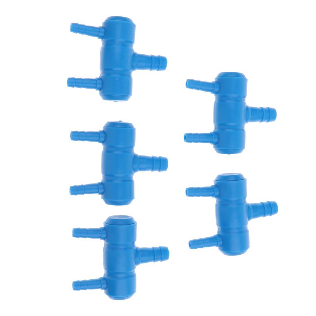 5 piezas de plástico peces de acuario tanque bomba del estanque colector divisor de la válvula de aire