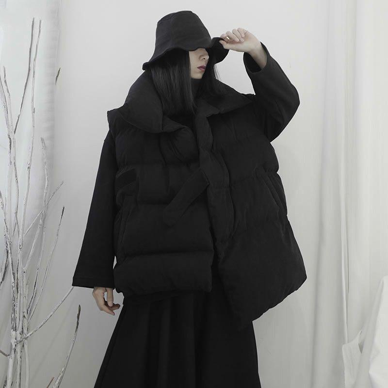 Kore Düzensiz Siyah Yelek Moda Yeni 2020 Şık Cep Kolsuz Turn Down Yaka Ekose Küçük Taze Azınlık Yelek B866