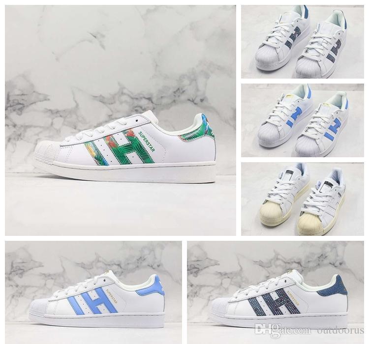 ADIDAS Yeni Ucuz Düşük OG Kabuk-Toes Klasik Paten Ayakkabı Beyaz Demin Mavi Elmas Rahat Bağbozumu Tasarımcı Eğitmeni Sokak Spor Sneaker 36-44
