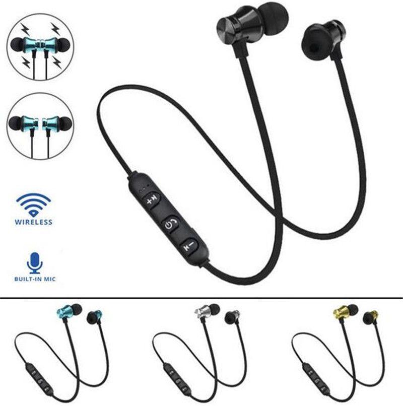 XT11 Bluetooth Headphones Magnetic Wireless Running Sport Earphones Headset BT 4.2 with Mic MP3 Earbud For iPhone LG Smartphones