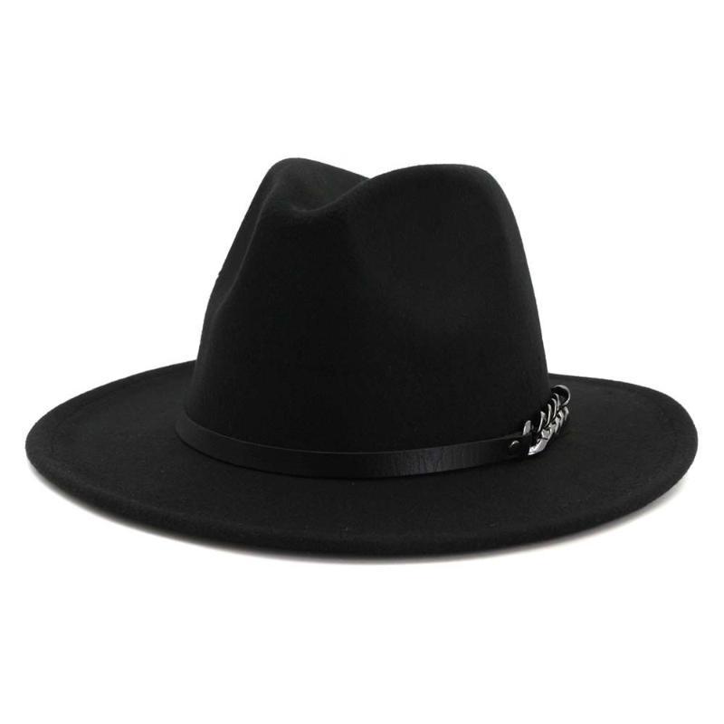 2020 nouvelles femmes d'automne et d'hiver chapeaux de laine grands chapeaux le long du style de marée pêcheur sauvage de la mode rétro
