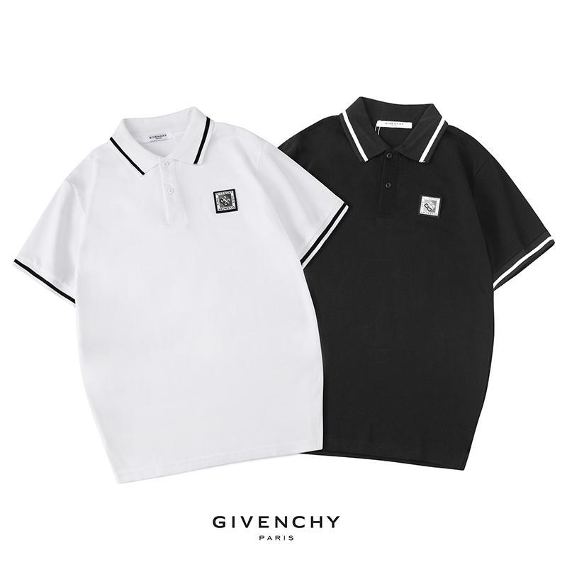 2019 diseño Giv letras LOGO Imprimir polos de solapa camiseta Camisetas deportivas Verano Hombres Mujeres Calle Monopatín Manga corta Casual top tees