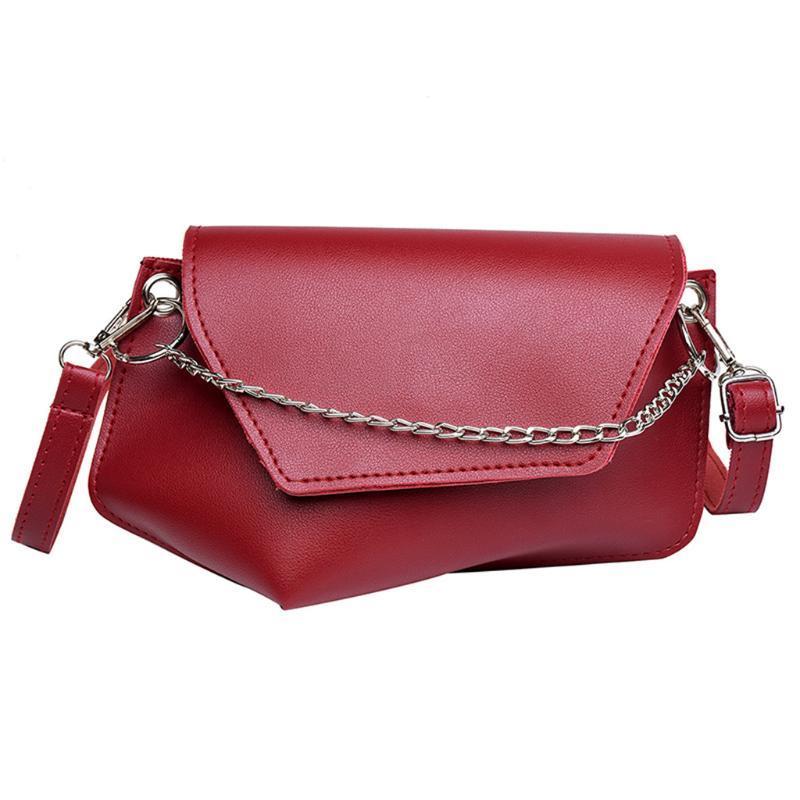Sacs couleur unie pour les femmes 2020 et sacs à main Moraillon Sac en cuir Femmes Sacs à main Single Ladies épaule Messenger Sacs
