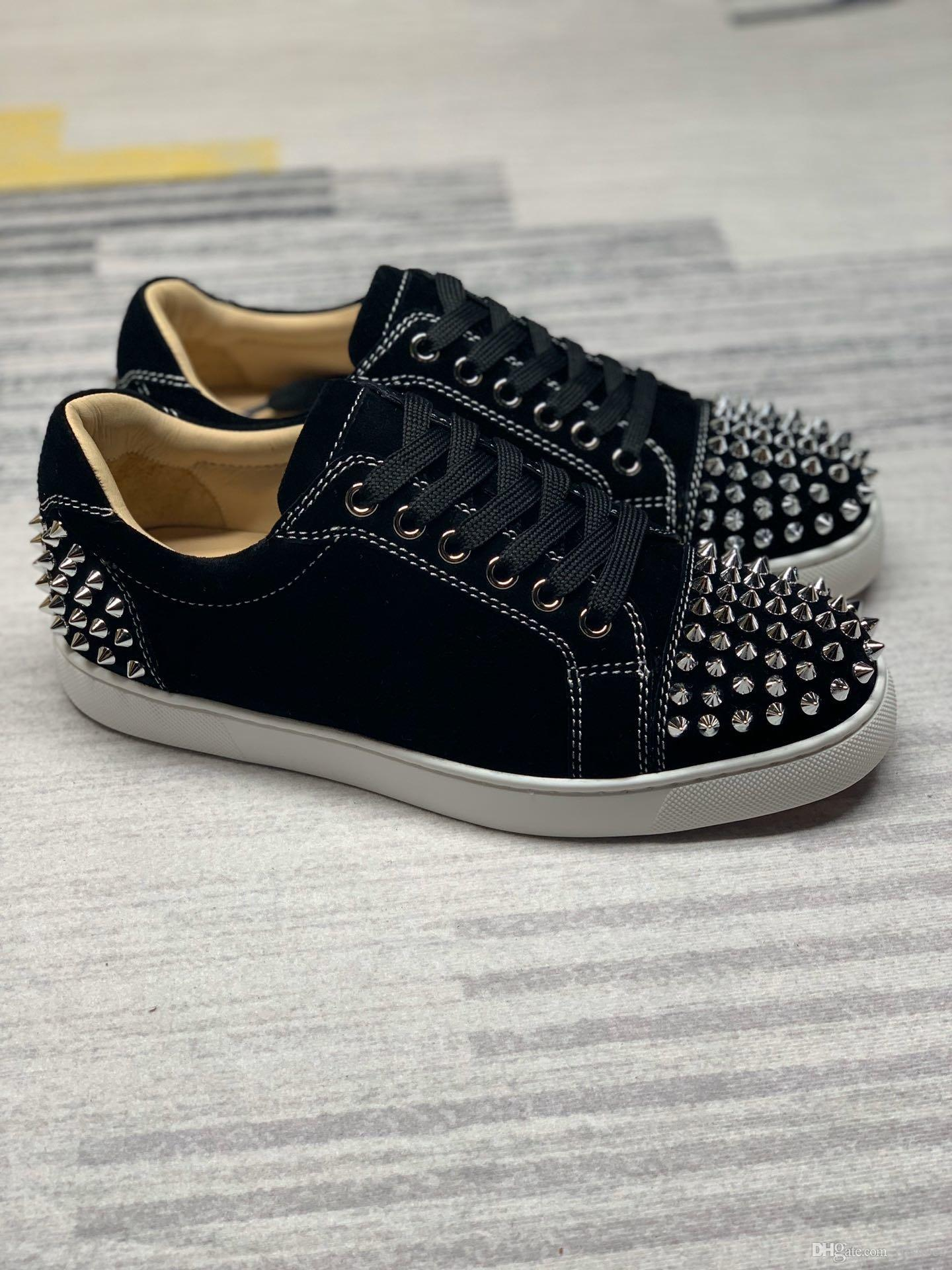Designer shoes Low Cut Suede spike casual Shoes Party Wedding crystal Leather Sneakers dress shoes for women men for sale