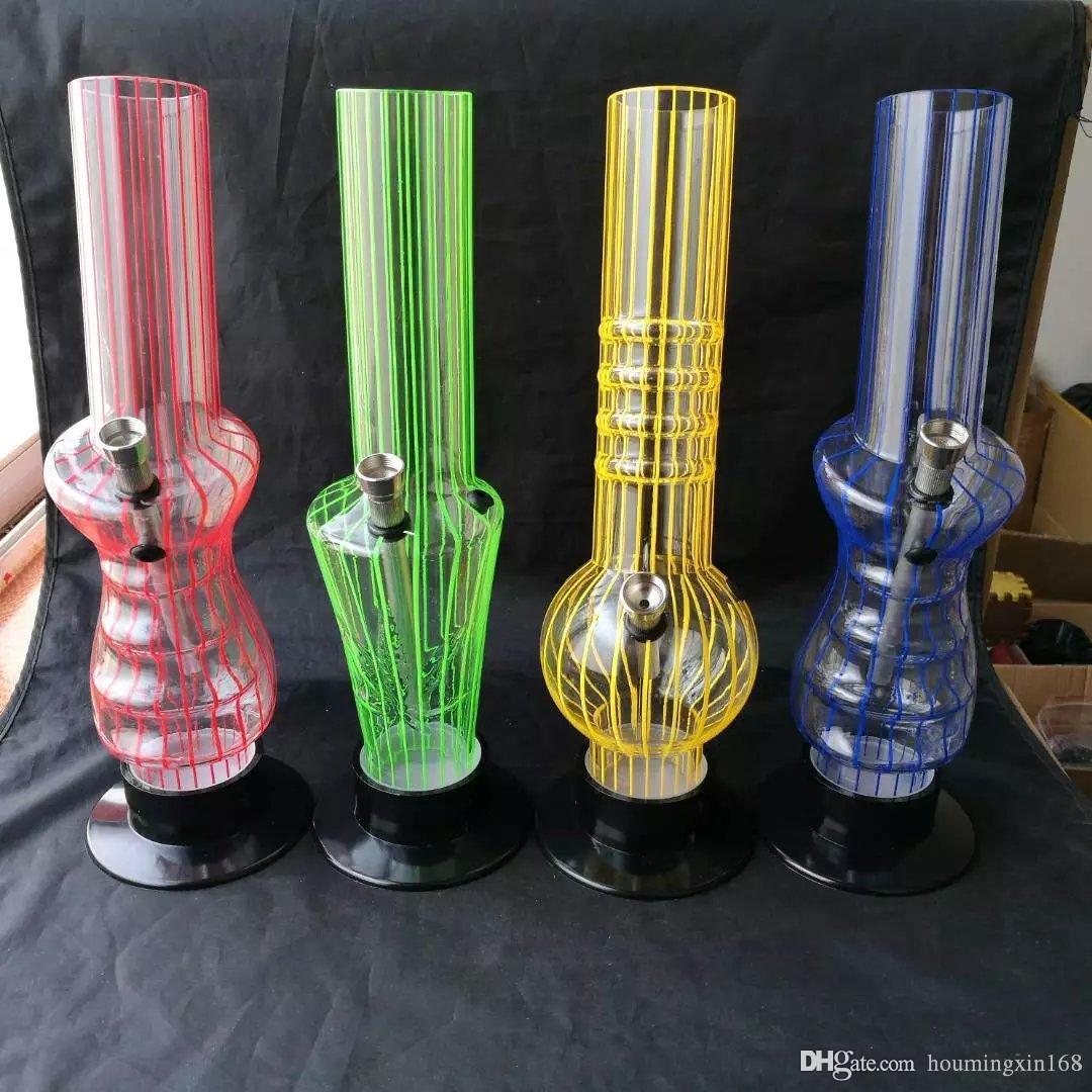 ajuda acrílico chaminé, bongs de vidro grosso, cachimbo de água de vidro, acessórios de tubulação de fumo