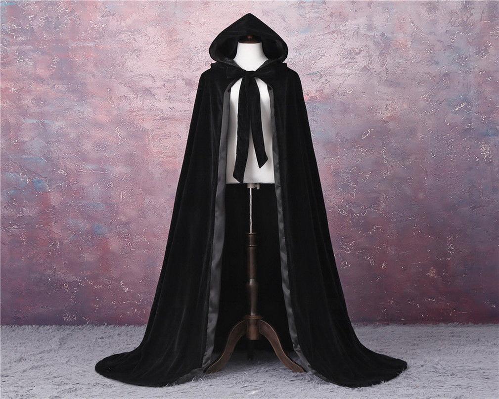 Casamento de veludo preto Casaco ao ar livre capas casaco princesa casamento xale para acessórios nupciais capa de casamento