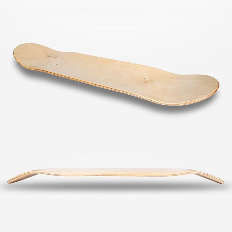 8Inch 8-слойной Maple Бланк Скейтборд Двойной вогнутый скейтборды Natural Skate Deck Board скейтборды Палуба Wood Maple Longboard
