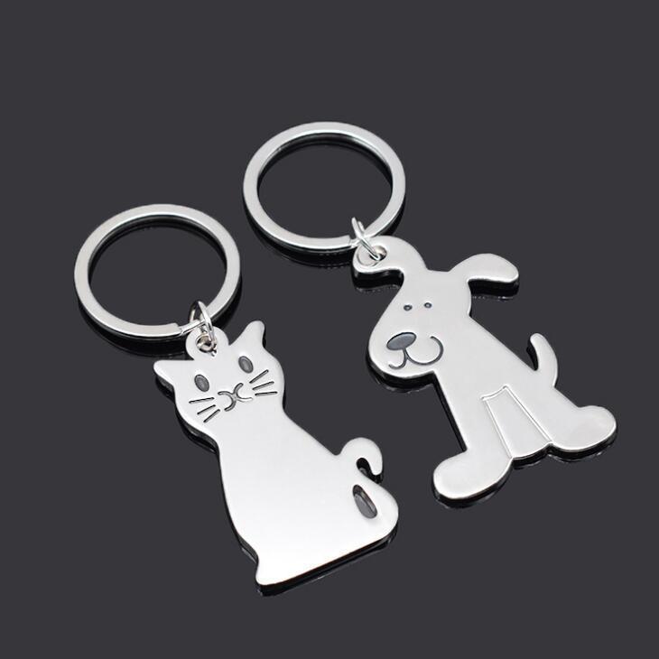 llavero del gato de la nueva manera creativa Modelo Llavero populares regalos del favor de metal clave banquete de boda de la cadena LX2013
