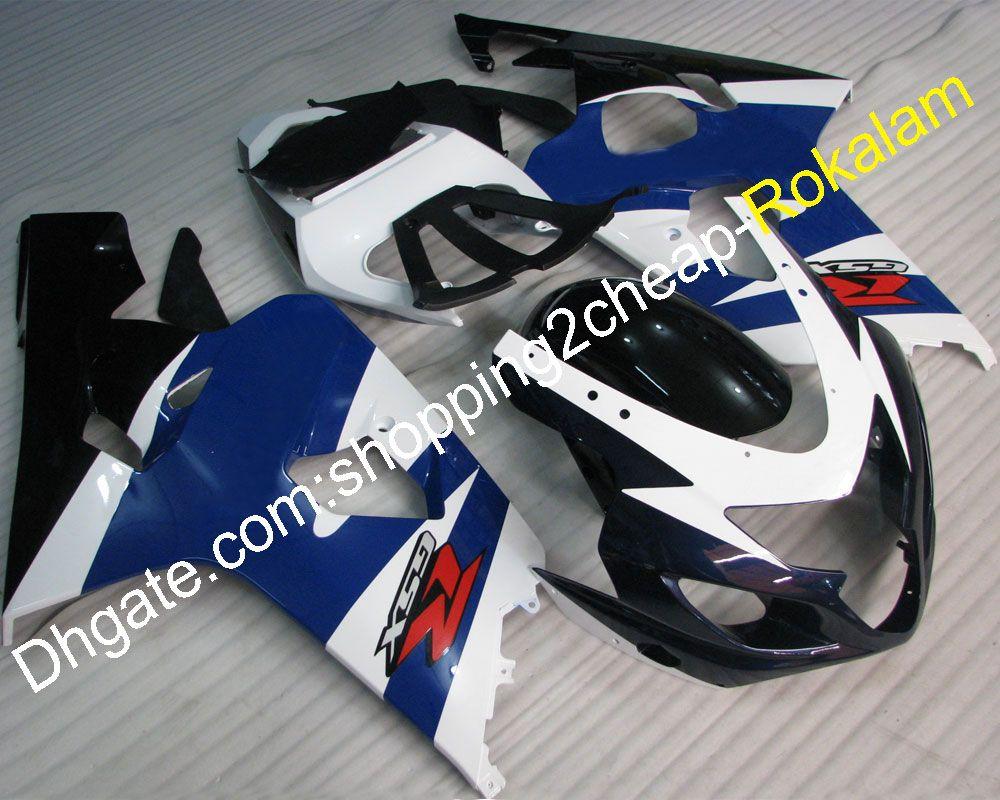 GSX-R 600 750 K4 Fairing kit For Suzuki 04 05 GSXR600 GSXR750 2004 2005 Blue White Black Sportbike Fairing Kits (Injection molding)