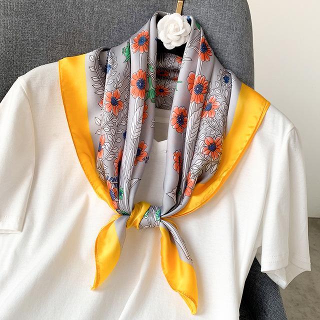 bayan için 2020 yeni ipek eşarp kare kadınlar moda iş neckerchife ilkbahar yaz dekoratif eşarplar 70 * 70cm küçük scarfs hediye